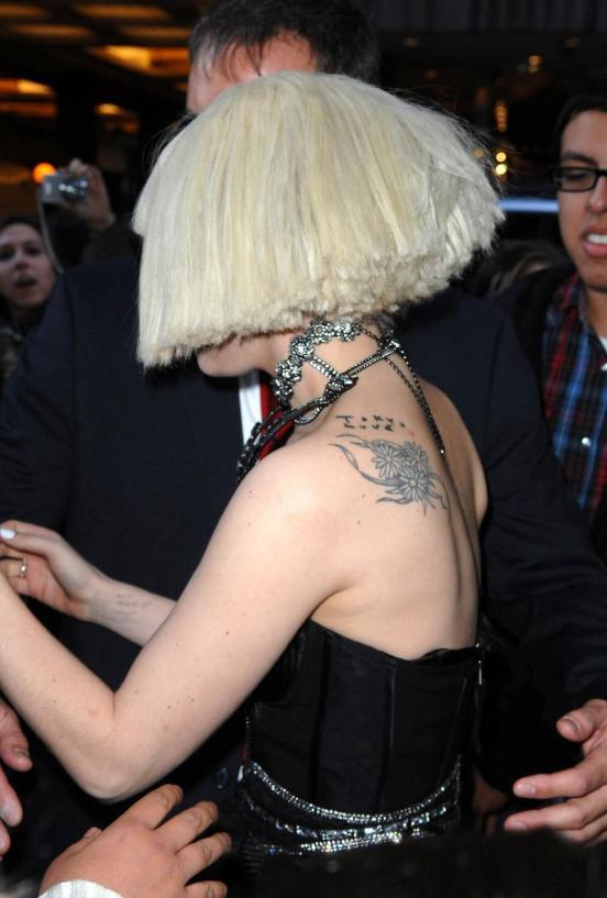 รอยสักสวยๆ Tatoo แบบดารา Lady Gaga มาอวด