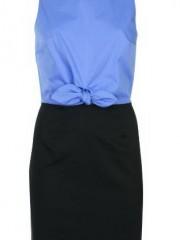 ชุดสั้นสีฟ้าตัดดำ