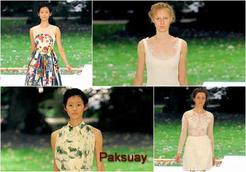 เสื้อผ้าหน้าร้อนวัยรุ่นไทย 2011 คาดเปียผ้าโปร่ง พิมม์ลาย สีอ่อน แต่งกายแบบง่ายๆ จาก Erdem