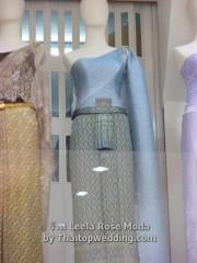 ชุดไทยประยุกต์ สีฟ้าแบบเรียบๆ แต่งงานอินเทรนด์ 2011
