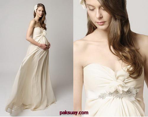 ชุดแต่งงานคนท้อง ชุดเจ้าสาวท้อง แบบสวยๆ ใหม่ๆ