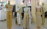 ชุดไทยแขนสั้น แขนยาว ชุดไทยบรมพิมาน แบบประยุกต์ สีทอง
