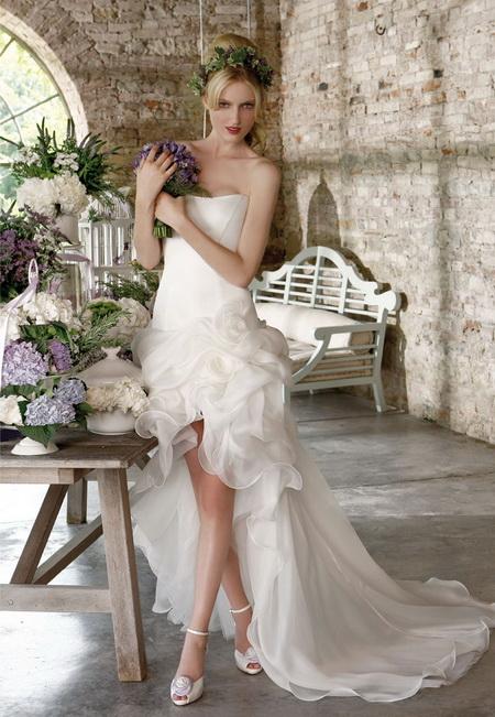 ชุดแต่งงาน สั้น ชุดหมั้น เดรสหน้าสั้น หลังยาว ปีหน้า