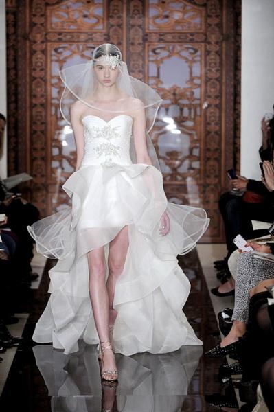 หน้าสั้นหลังยาว ชุดแต่งงาน เจ้าสาว แบบสั้น ไอเดีย 2013