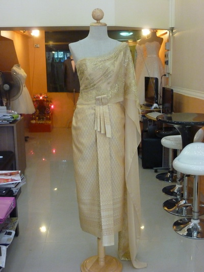 ชุดไทยแต่งงาน สีทอง ไอเดีย แบบ ต่างๆ