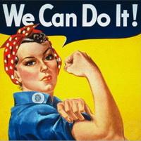 สโลแกนหญิงสวยทำได้ แฟชั่นจาก Rosie the Riveter