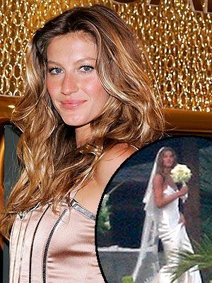 ชุดแต่งงาน นางแบบ คนดัง Gisele Bundchen