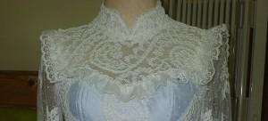 ชุดไทยย้อนยุค ร.5 แบบชุดไทยประยุกต์ ผ้าลูกไม้ แขนยาว เจ้าสาว วินเทจ งานแต่งงาน ย้อนยุค