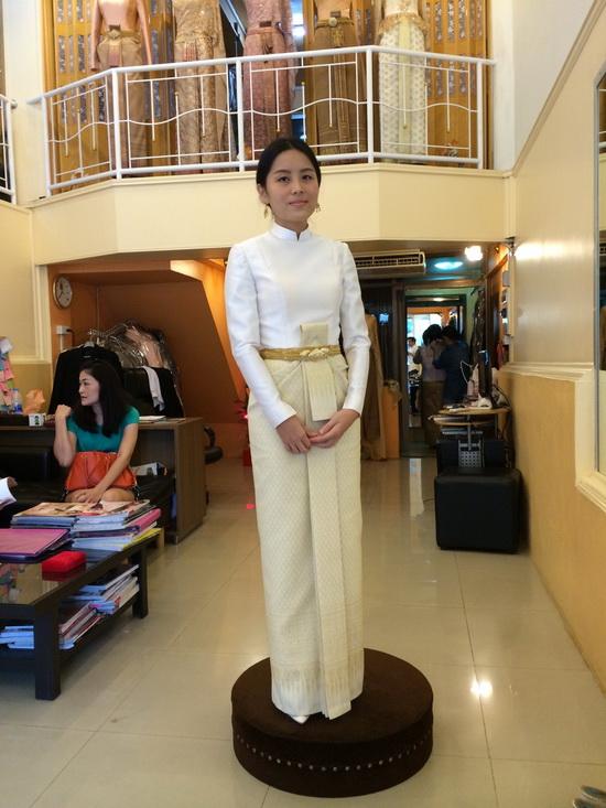 ชุดไทยบรมพิมาน ชุดไทยแขนยาว
