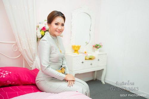 ชุดไทยบรมพิมาน สีฟ้า chut thai boromphiman