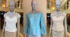 เสื้อลูกไม้ ผ้าถุง แบบชุดไทย ชุดงานบุญ ชุดงานแต่ง